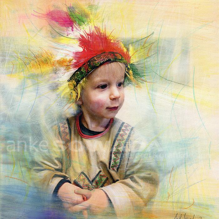 Anke-Sowada-Kinderbild-Indianerhäuptling
